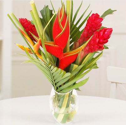 Ginger and Heliconia Autumnal Bouquet